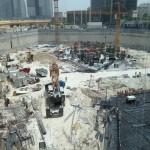 Stavba základů ve 40stupňovém vedru