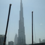 Burj Khalífa bohužel za horší viditelnosti