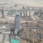Pohled z nejvyšší budovy světa - vyhlídka není na vrcholu