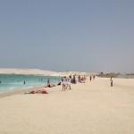 Dubaiská pláž. V červenci je teplota příliš vysoká.