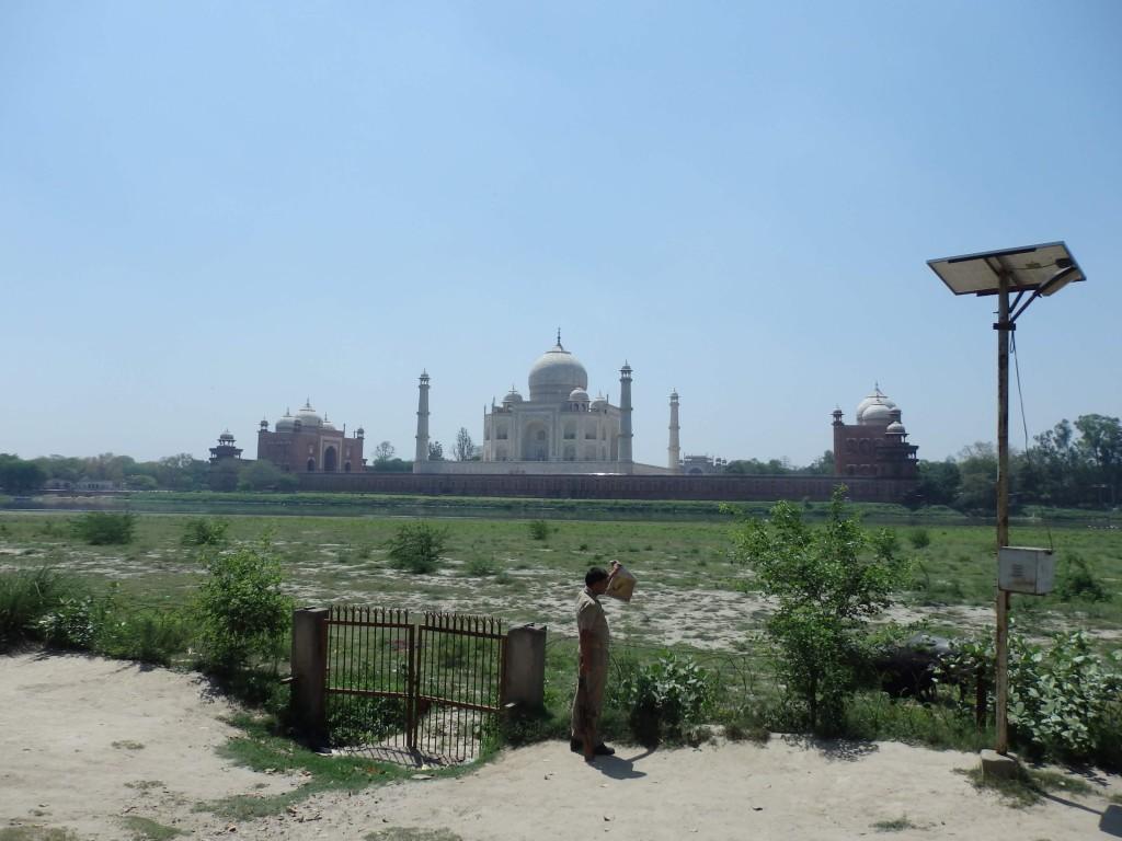 Výhled na Taj Mahal