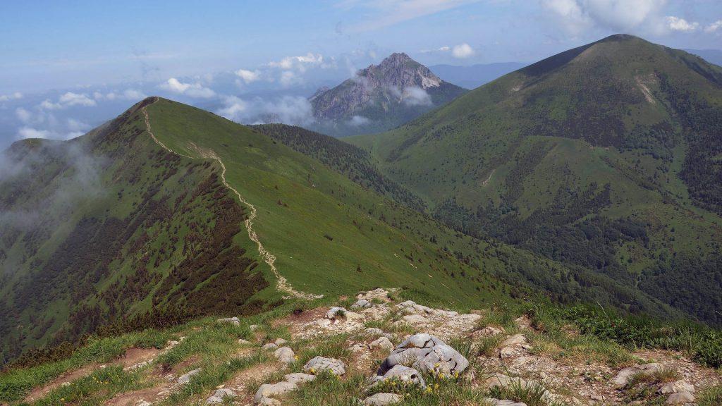 Pohled na vrcholky Malé Fatry