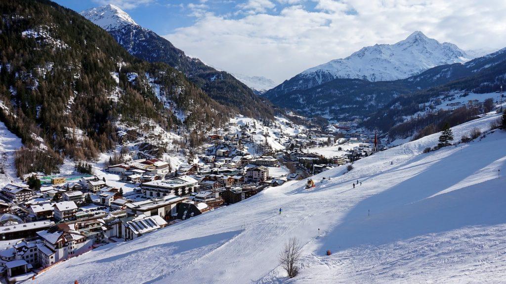 Lyžařské středisko v Rakousku